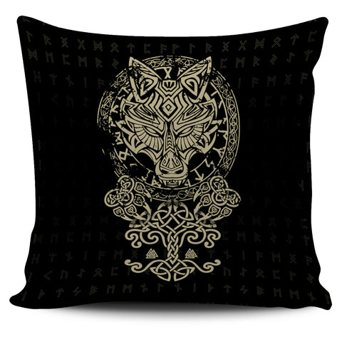 1stIceland Viking Wolf Fenrir Pillow Cover TH12 - 1st Iceland