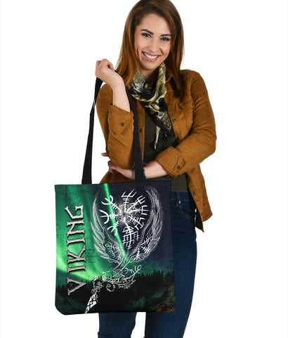 Image of 1stIceland Viking Tote Bag Northern Lights TH12 - 1st Iceland