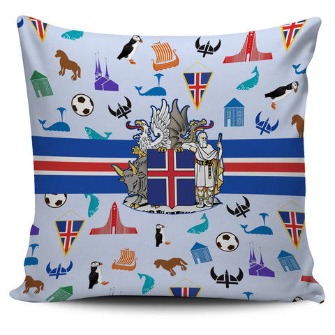 1stIceland Pillow Case, Iceland Coat Of Arms & Symbol - 1st Iceland