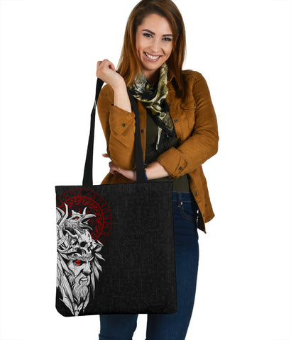 1stIceland Viking Odin And Raven Tote Bag TH12 - 1st Iceland