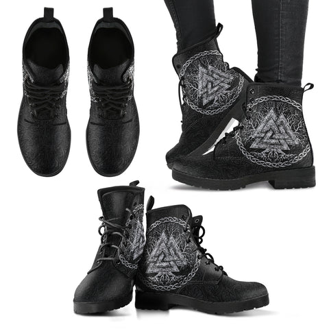 1stIceland Viking Leather Boots, Valknut Yggdrasil TH00 - 1st Iceland