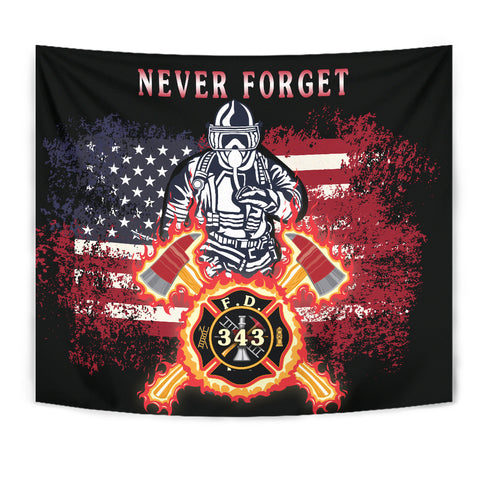 1stIceland American Firefighters Tapestry 9.11.01 Memorial K8 - 1st Iceland
