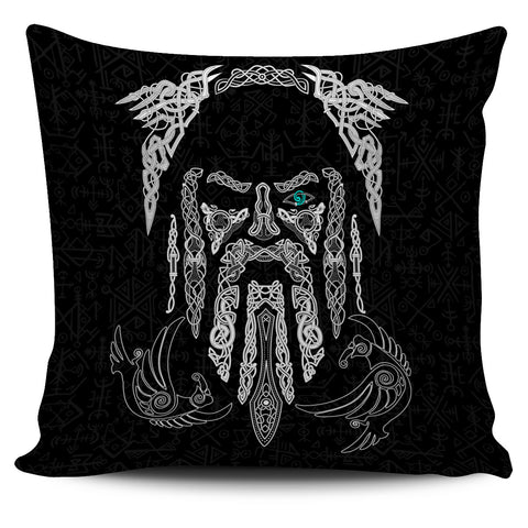 1stIceland Viking Pillow Cover, Odin's Eye with Raven K4 - 1st Iceland