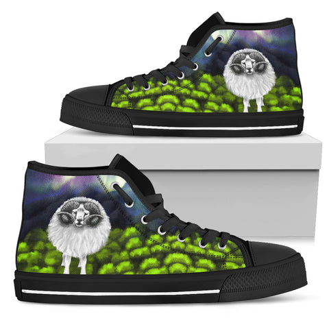 Image of 1stIceland High Top Shoes, Icelandic Sheep Aurora K4 - 1st Iceland