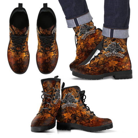 1stIceland Viking Leather Boots, Odin Norse Mythology Nn8 - 1st Iceland
