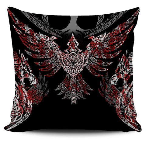 1stIceland Viking Pillow Cover, Raven Th00 - 1st Iceland