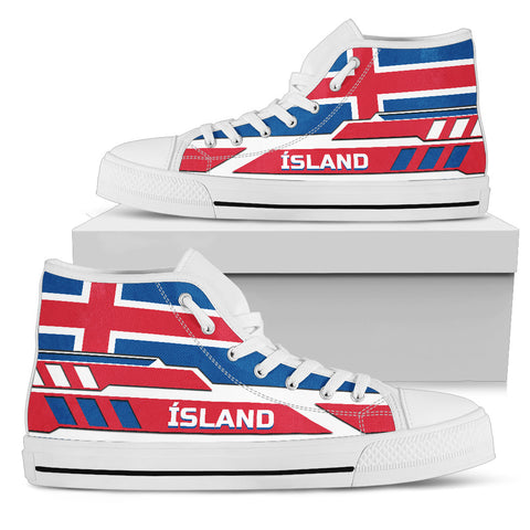 Image of 1stIceland High Top Shoes, Ísland FLag TH0 - 1st Iceland