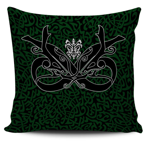 1stIceland Celtic Pillow Cover, Celtics Dragon Tattoo Th00 - Green - 1st Iceland