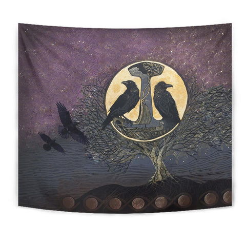 1stIceland Viking Tapestry, Raven And Tree oOf Life K5 - 1st Iceland