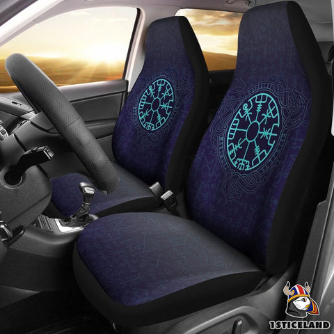 Image of 1stIceland Viking Car Seat Covers, Vegvisir Futhark Norse Nn8 - 1st Iceland