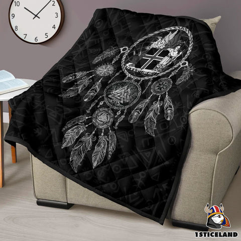 1stIceland Viking Premium Quilt, Dreamcatcher Iceland Coat Of Arms K4 - 1st Iceland