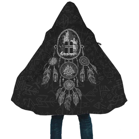 1stIceland Viking Hooded Cloak, Dreamcatcher Iceland Coat Of Arms K4 - 1st Iceland