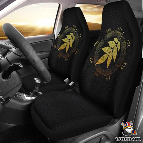 1stIceland Viking Car Seat Covers, Leaf Fall Of Asgard Ha8 - 1st Iceland