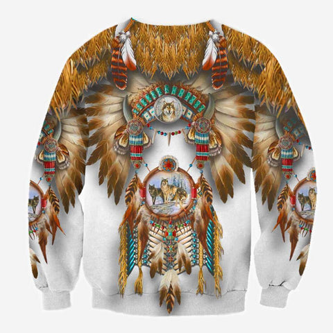 1st Iceland Wolf Native American Sweatshirt TH12 - 1st Iceland