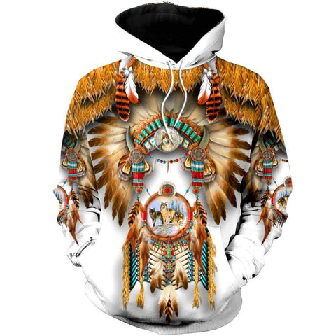 1st Iceland Wolf Native American Hoodie TH12 - 1st Iceland