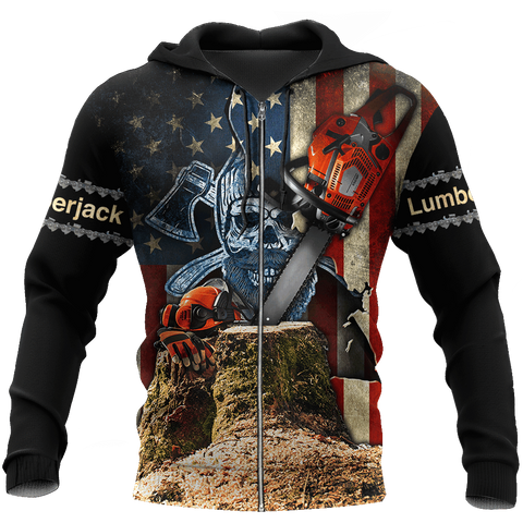 Image of 1sticeland Beautiful Chainsaw Art Zip Hoodie