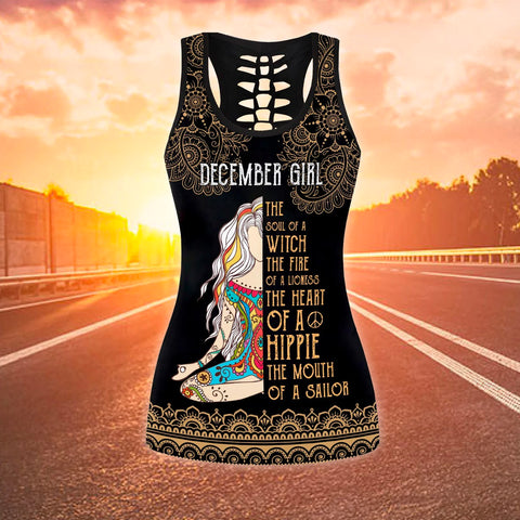December girl The soul of a Witch Women's Racerback Tank TH12 - 1st Iceland