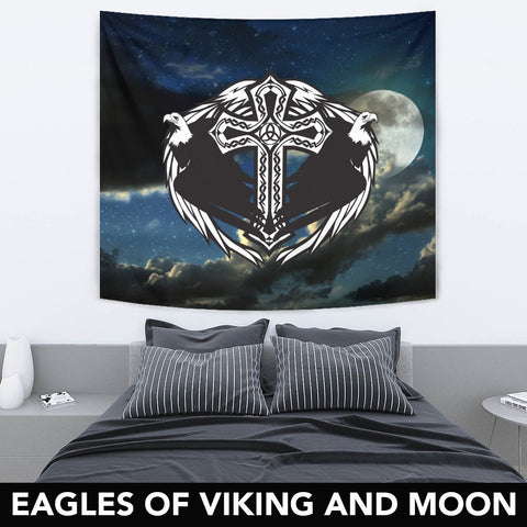 1stIceland Viking Tapestry, Eagles Cross A7 - 1st Iceland