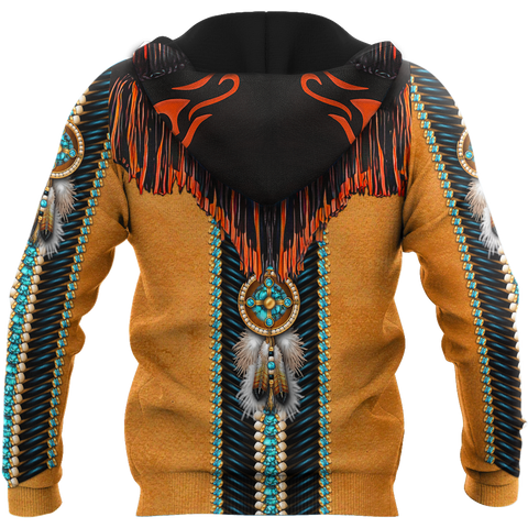 1stIceland Native American 3D Printed Unisex Zip Hoodie Modern TH12 - 1st Iceland