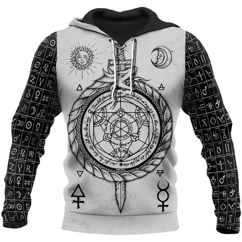 1stIceland Viking Pullover Hoodie, Alchemy & Vikings Runes Th00 - 1st Iceland