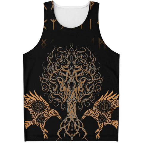 1sticeland Viking Men's Tank Top Tree Of Life with Ravens TH5 - 1st Iceland