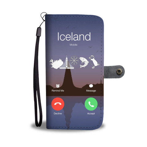 1stIceland Wallet Phone Cases, Iceland Is Calling A5 - 1st Iceland