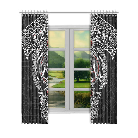 1stIceland Viking Window Curtain, Fenrir Skoll And Hati TH00 - 1st Iceland