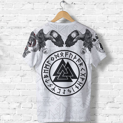Image of 1stIceland Viking  T-Shirt, Fenrirs Skoll And Hati Valknut Odin's Ravens TH00 - 1st Iceland