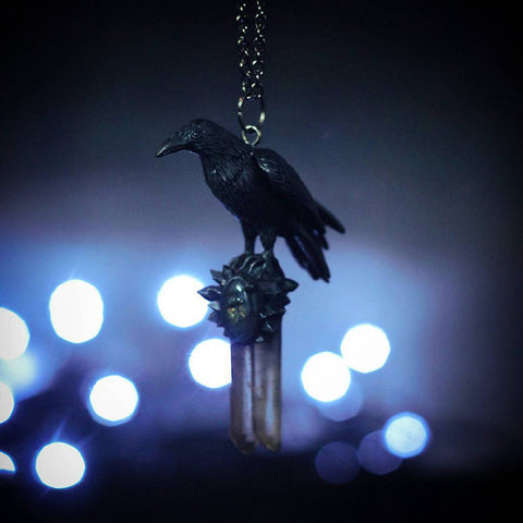 Black Magic Raven Necklace TH10 - 1st Iceland