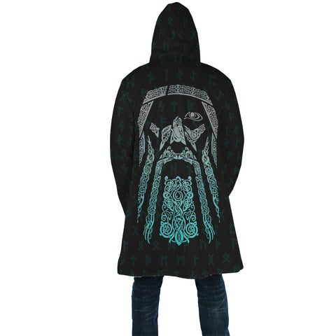 Image of 1stIceland Viking Hooded Cloak, Odin Norse Mythology Rune A7 - 1st Iceland