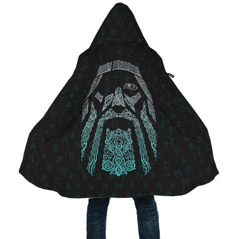 1stIceland Viking Hooded Cloak, Odin Norse Mythology Rune A7 - 1st Iceland