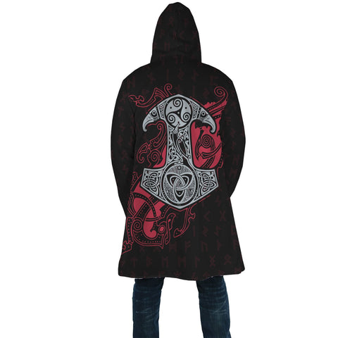 Image of 1stIceland Viking Hooded Cloak, Odin's Mjolnir Rune A7 - 1st Iceland