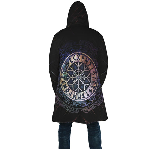 Image of 1stIceland Viking Hooded Cloak, Helm Of Awe Runes Circle A7 - 1st Iceland