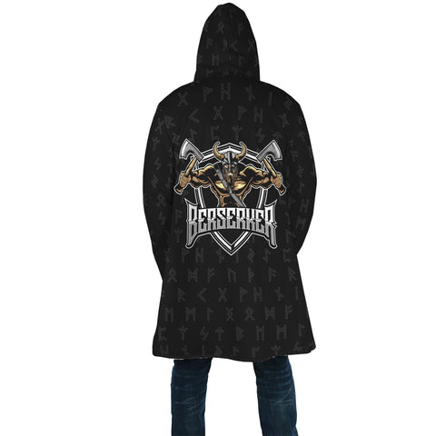 1stIceland Viking Hooded Cloak, Berserker Norse Mythology Rune A7 - 1st Iceland