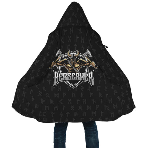Image of 1stIceland Viking Hooded Cloak, Berserker Norse Mythology Rune A7 - 1st Iceland