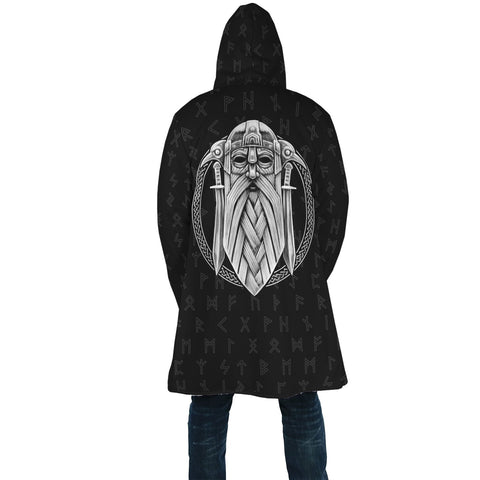 1stIceland Viking Hooded Cloak, Odin Norse Mythology Runes A7 - 1st Iceland