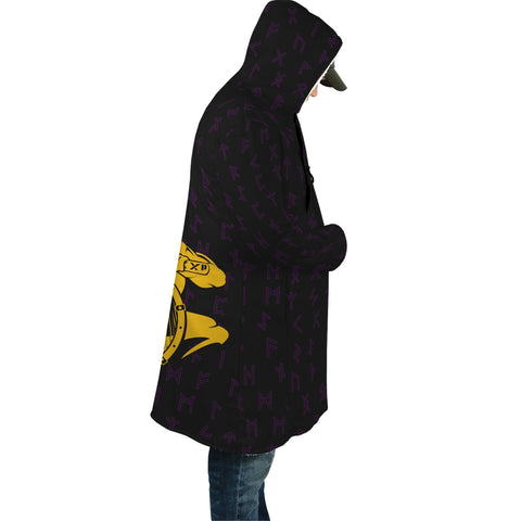 Image of 1stIceland Viking Hooded Cloak, Odin With Shield Axe Runes A7 - 1st Iceland