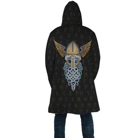 1stIceland Viking Hooded Cloak, Odin Helmet Runes A7 - 1st Iceland