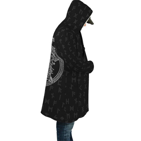 Image of 1stIceand Viking Hooded Cloak, Odin Nordic Mythology Elder Futhark A7 - 1st Iceland
