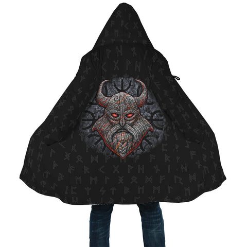 1stIceland Viking Hooded Cloak, Odin Runes Helm Of Awe A7 - 1st Iceland