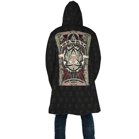 1stIceland Viking Hooded Cloak, Celtic Knot Runes A7 - 1st Iceland