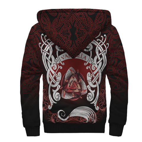 Image of 1stIceland Viking Sherpa Hoodie, Heimdall Horn Of Odin Valknut K7 - 1st Iceland