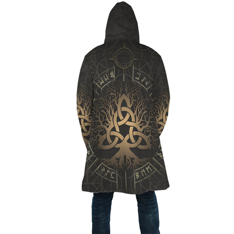 1stIceland Viking Hooded Cloak, Yggdrasil Helm Of Awe Rune Circle K7 - 1st Iceland