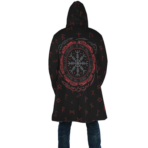 1stIceland Viking Hooded Cloak, Helm Of Awe Runes K5 - 1st Iceland