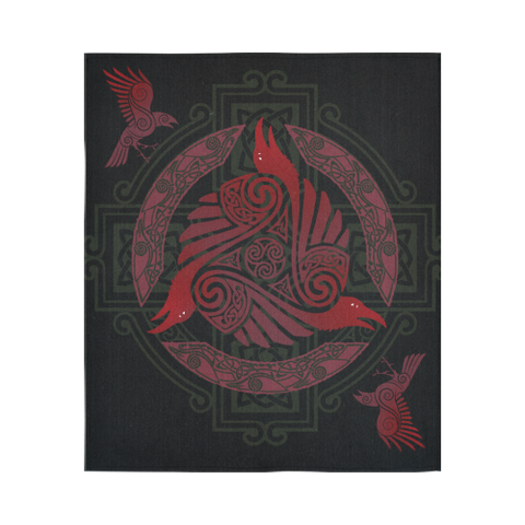 Image of 1stIceland Viking Tapestry, Horn Of Odin Ravens A7 - 1st Iceland