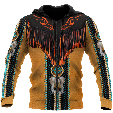 Image of 1stIceland Native American 3D Printed Unisex Zip Hoodie Modern TH12 - 1st Iceland