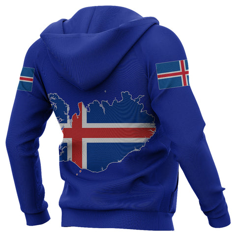 1stIceland Football Hoodie, Iceland FLag Map Coat Of Arms & Fram Reykjavik K4 - 1st Iceland