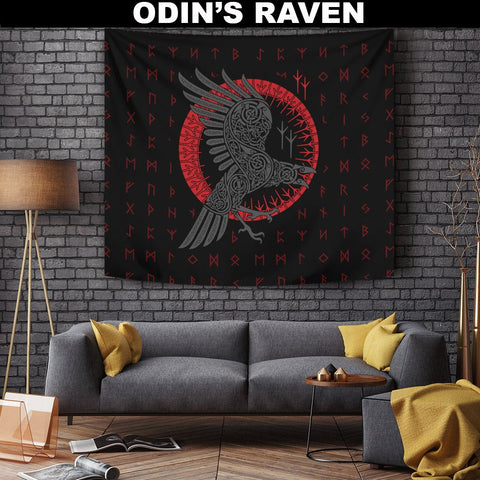 1stIceland Viking Tapestry, Ragnar's Raven Runes A7 - 1st Iceland