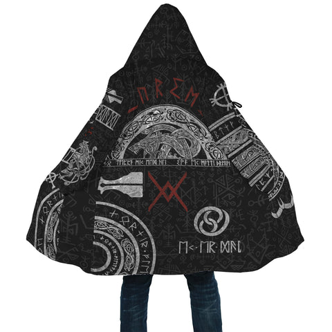 1stIceland Viking Hooded Cloak, Baldur Norse Mythology Tattoo K4 - 1st Iceland