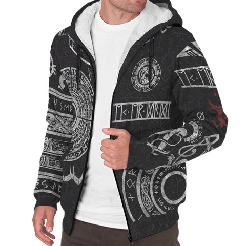 1stIceland Viking Sherpa Hoodie, Baldur Norse Mythology Tattoo K4 - 1st Iceland